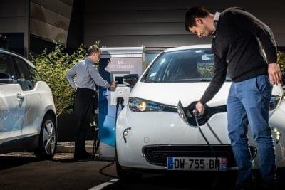 Mise en situation de la borne de recharge 24 kW