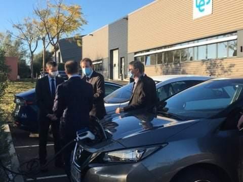 Visite du préfet de l'Hérault - Test bornes de recharge rapide