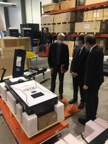 Visite du préfet de l'Hérault - Personnalisation borne de recharge rapide