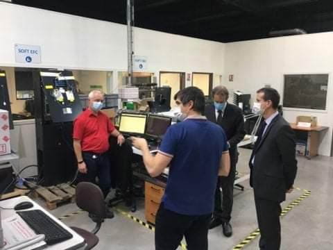 Visite du préfet de l'Hérault - R&D borne de recharge rapide